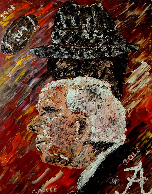 Bear Bryant Art Print featuring the painting Bear Bryant And Mal Moore by Mark Moore