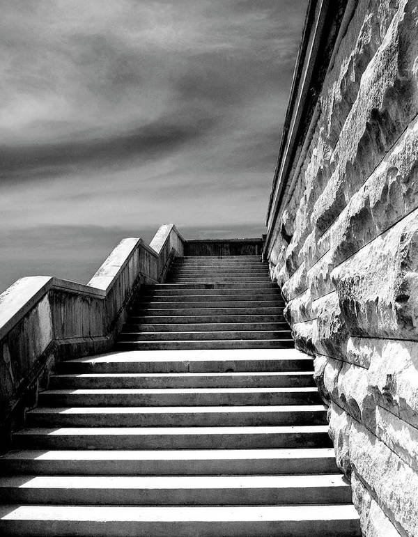 Asheville Art Print featuring the photograph Biltmore Stairs Asheville Nc by William Dey