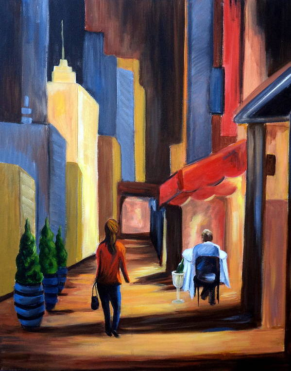 City View Art Print featuring the painting Blind Date by Rosie Sherman