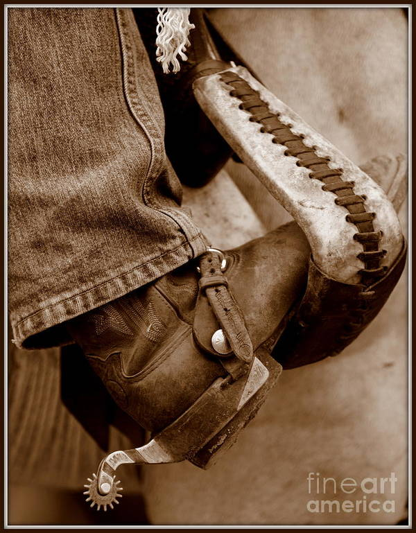 Horse Art Print featuring the photograph Boot N Stirup by Bill Keiran