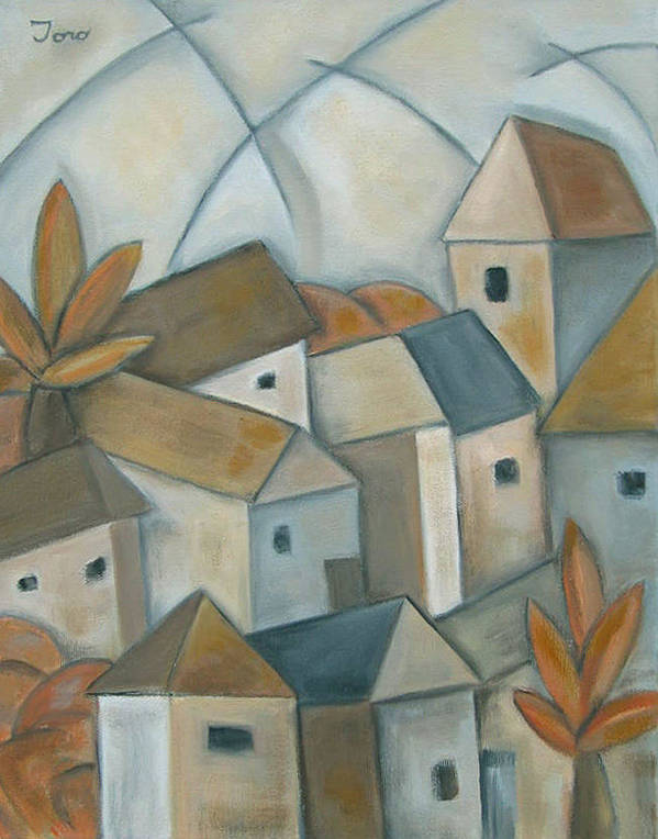 Landscape Art Print featuring the painting Casas Iv by Trish Toro