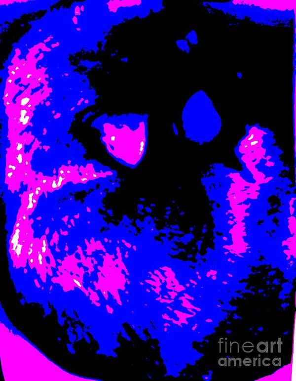 Blue Art Print featuring the photograph Cat Abstract by Eric Schiabor