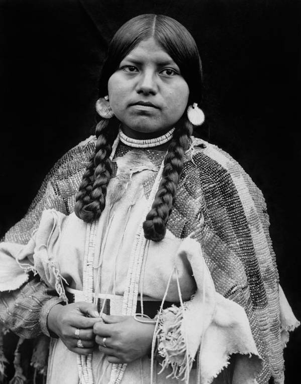 1910 Art Print featuring the photograph Cayuse Woman Circa 1910 by Aged Pixel