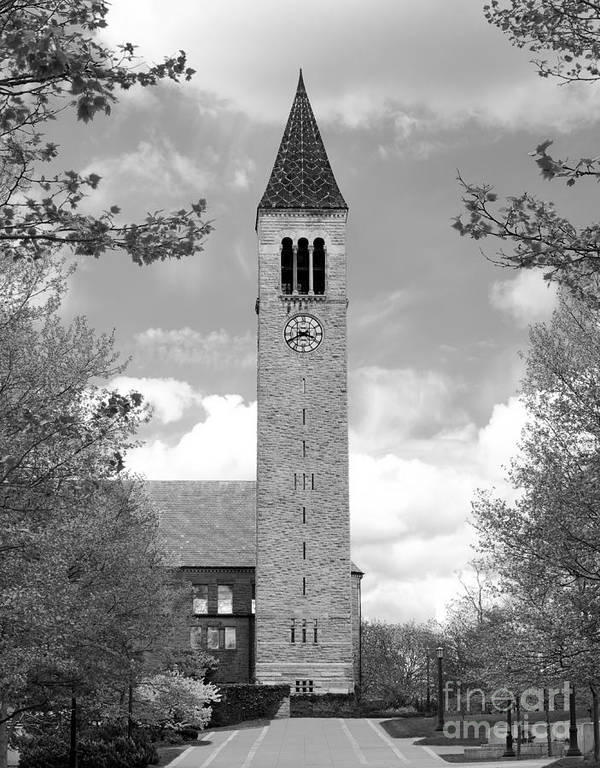 Cornell University Print featuring the photograph Cornell University Mc Graw Tower by University Icons