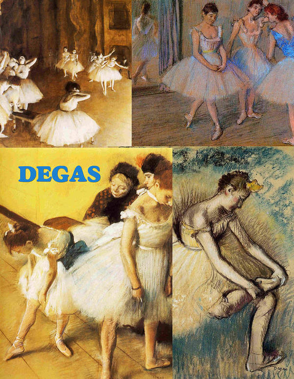 Collage Print featuring the painting Degas Collage by Philip Ralley