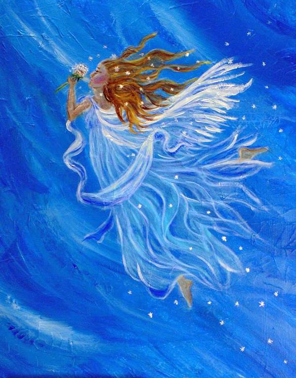 Angel Art Print featuring the painting Elemental Earth Angel Of Wind by The Art With A Heart By Charlotte Phillips
