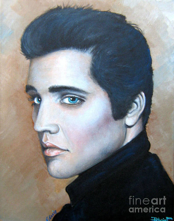 Elvis Art Print featuring the painting Elvis by Patrice Torrillo