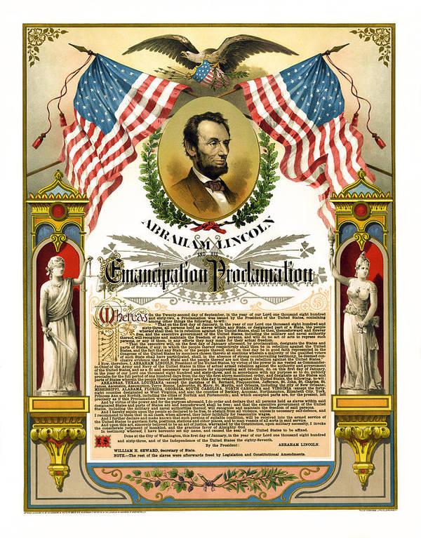 emancipation Proclamation Art Print featuring the photograph Emancipation Proclamation Tribute 1888 by Daniel Hagerman