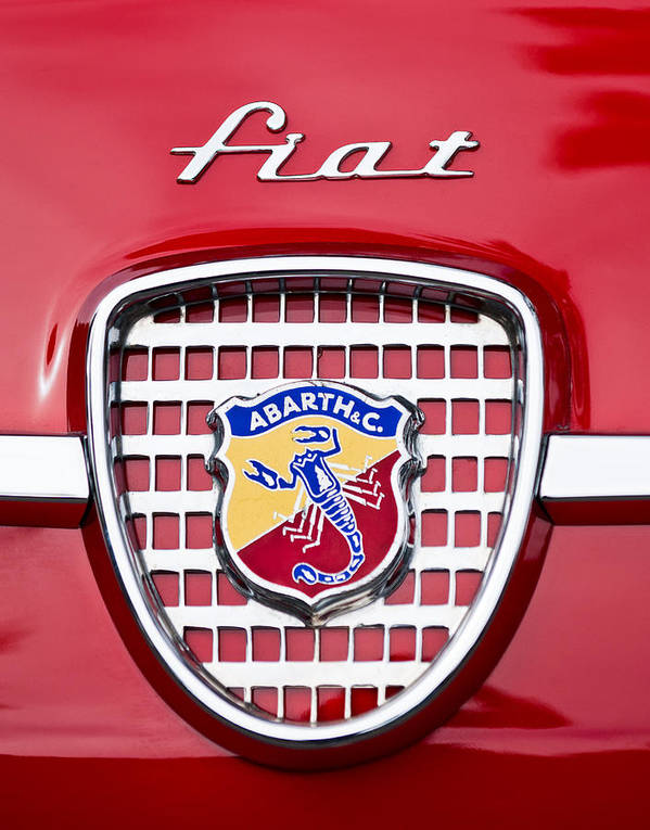 Fiat Print featuring the photograph Fiat Emblem 2 by Jill Reger
