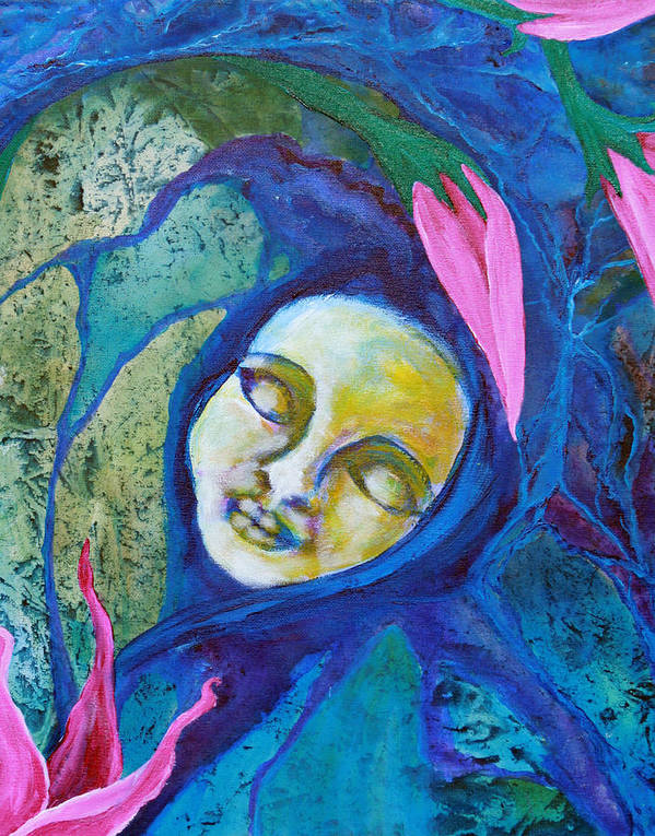 Flower Art Print featuring the painting Flower Child Dreams by Shelley Bredeson