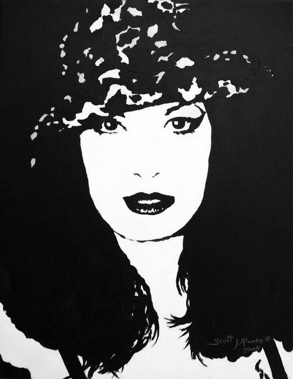 Portrait Art Print featuring the painting Hat by Scott Alcorn