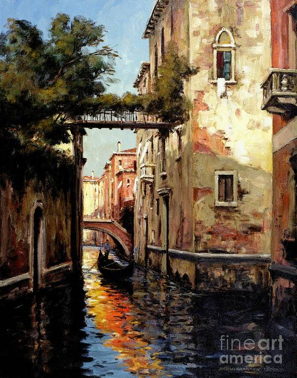 Venice Art Print featuring the painting Heading Home by Michael Swanson