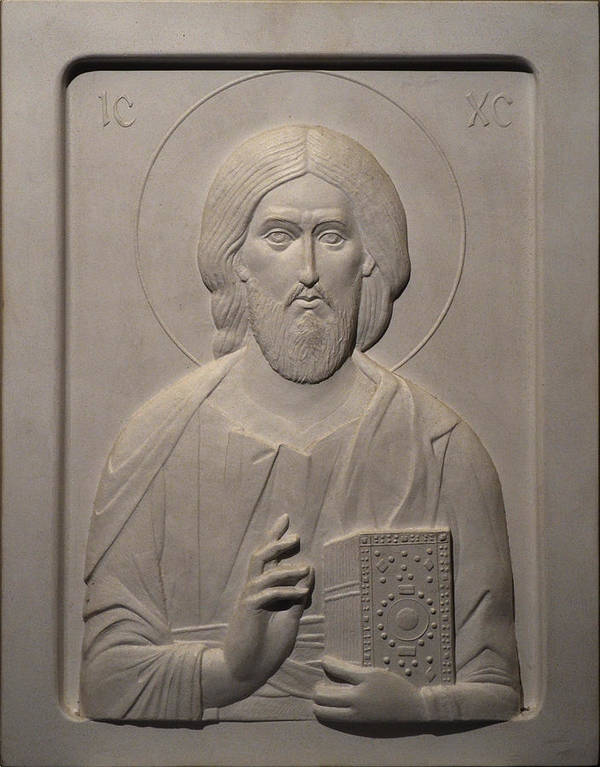 Jesus Print featuring the relief Jesus Christ by Ivan Markovic