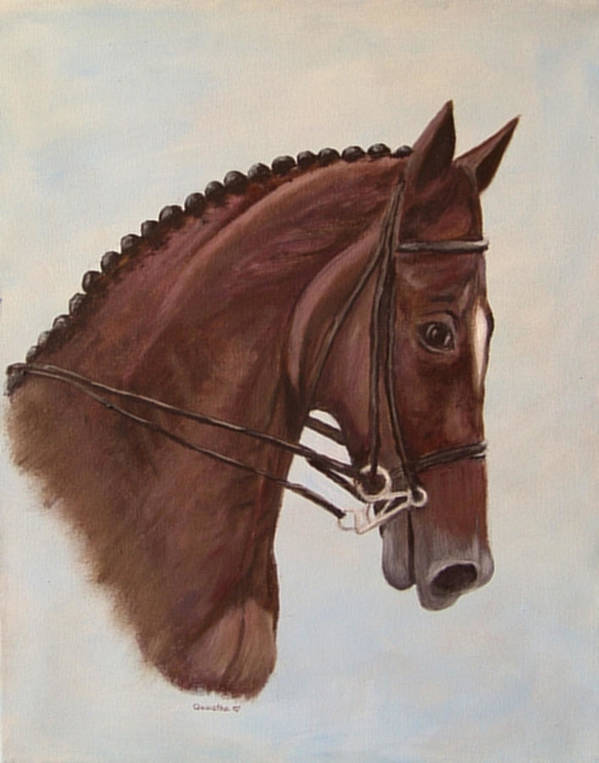 Horse Art Print featuring the painting Kingd'azur by Quwatha Valentine