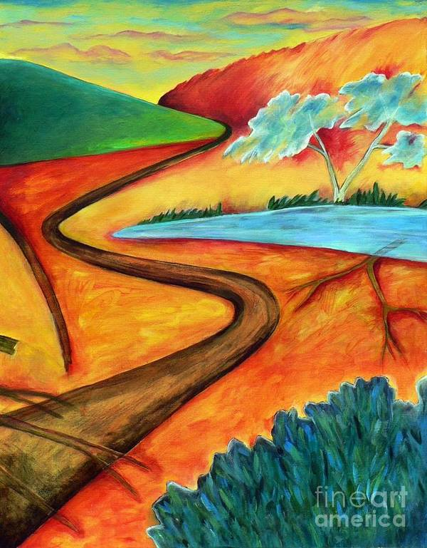 Landscape Art Print featuring the painting Lost Land 2 by Elizabeth Fontaine-Barr
