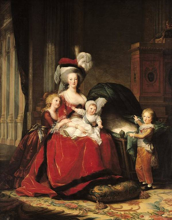 Marie Antoinette Print featuring the painting Marie Antoinette And Her Children by Elisabeth Louise Vigee-Lebrun