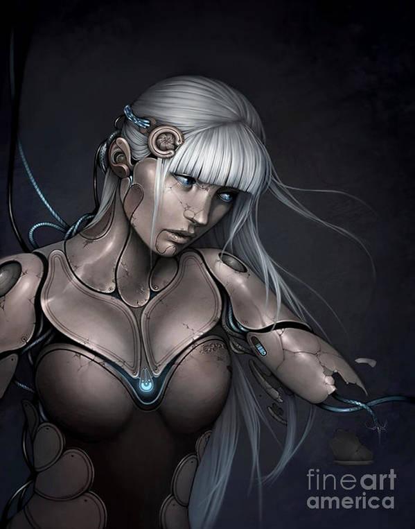 Cyborg Art Print featuring the digital art mel by Bryan Roper