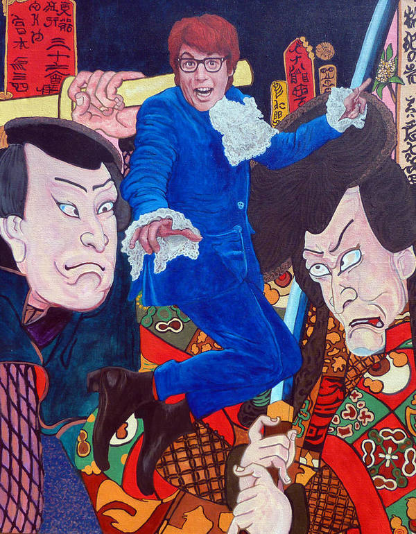 Austin Powers Art Print featuring the painting Mojo Baby by Tom Roderick