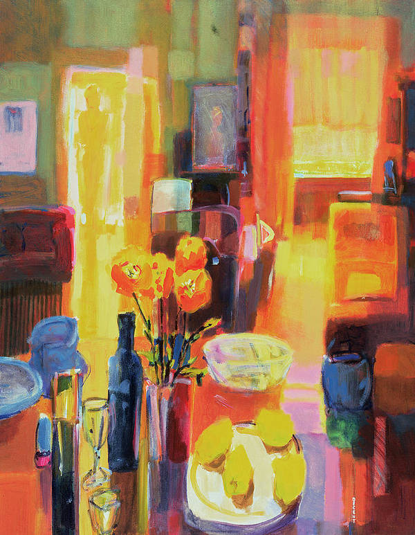 Nice Art Print featuring the painting Morning In Paris by Martin Decent