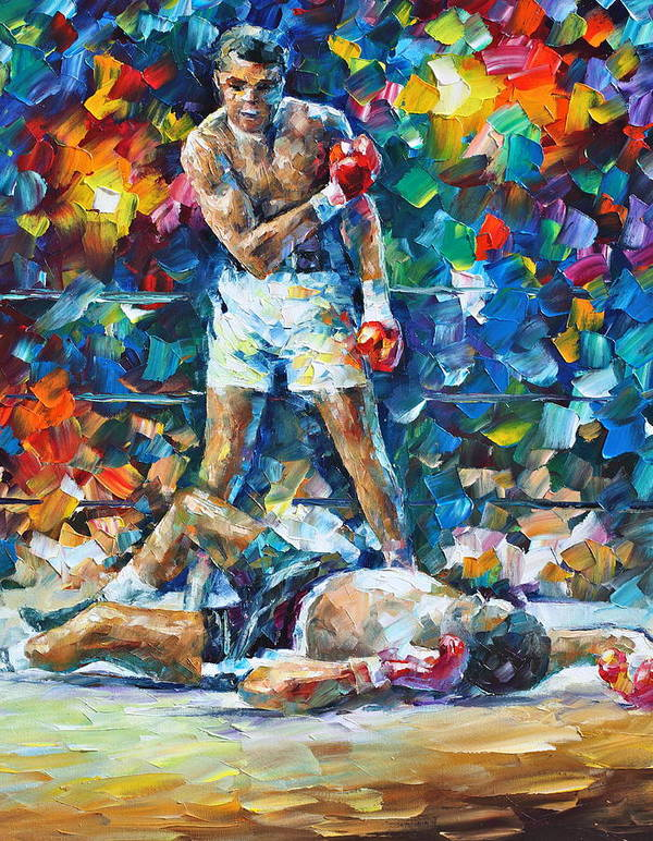 Box Art Print featuring the painting Muhammad Ali by Leonid Afremov