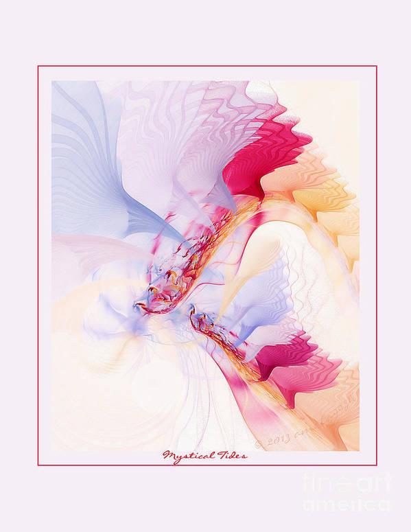 Fractal Art Print featuring the digital art Mystical Tides by Gayle Odsather