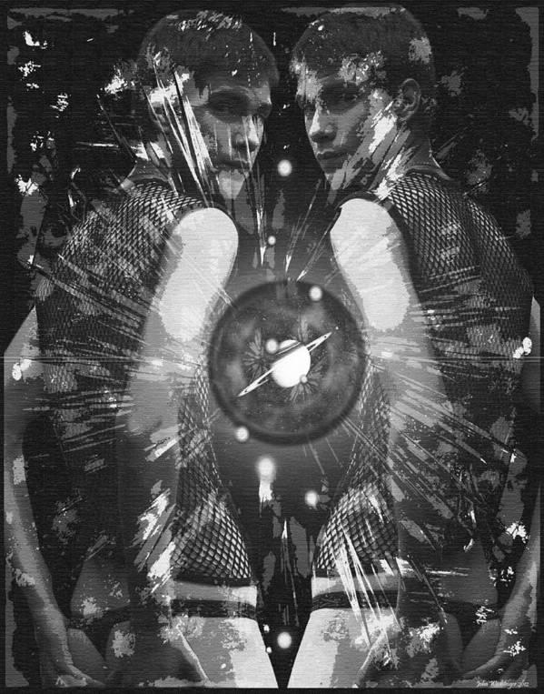Gay Art Print featuring the digital art Night Light by John Waiblinger