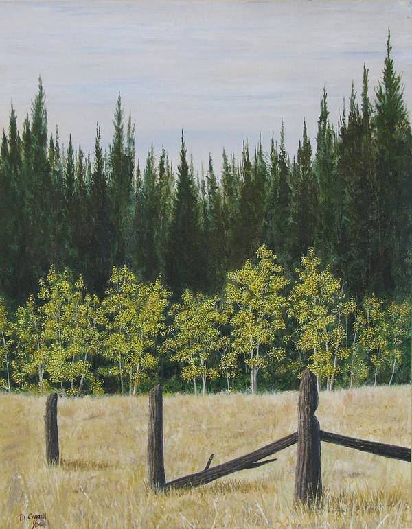Landscape Art Print featuring the painting Old Fences by Dana Carroll