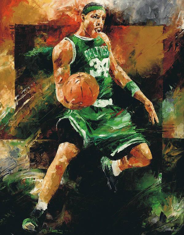 Paul Art Print featuring the painting Paul Pierce by Christiaan Bekker