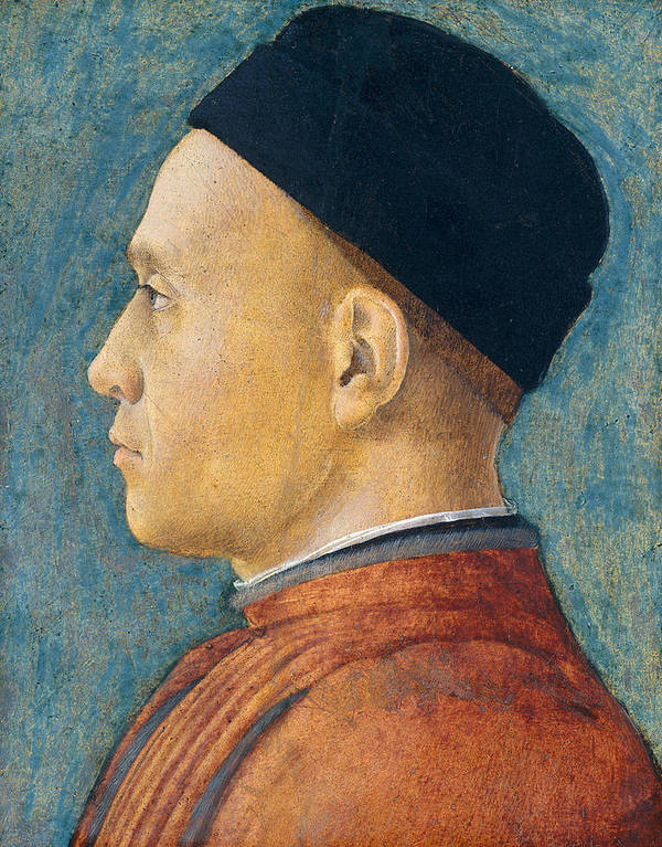 Profile Art Print featuring the painting Portrait Of A Man by Andrea Mantegna