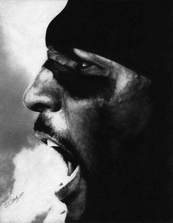 Ray Lewis Art Print featuring the drawing Ray Lewis by Justin Clark