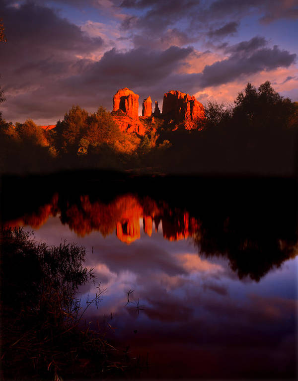 Red Rock Crossing Art Print featuring the photograph Red Rock Crossing Sedona by Ray Mathis