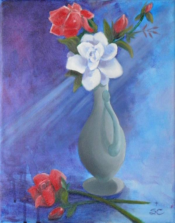Mom Art Print featuring the painting Remember Mom by Sharon Casavant