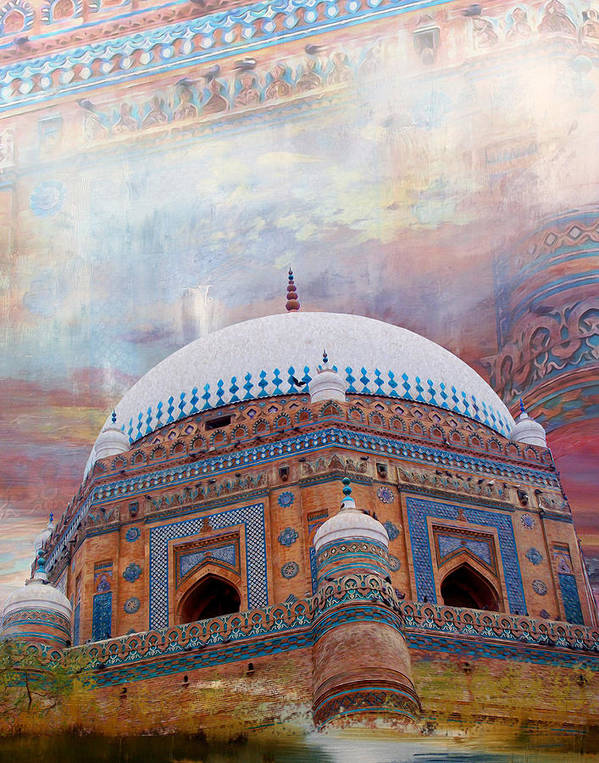 Pakistan Art Print featuring the painting Rukh E Alam by Catf