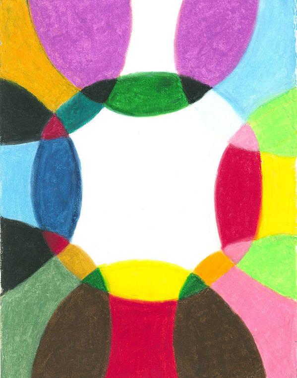 Mandala Art Print featuring the painting Sacred Circle Of Light by Carrie MaKenna