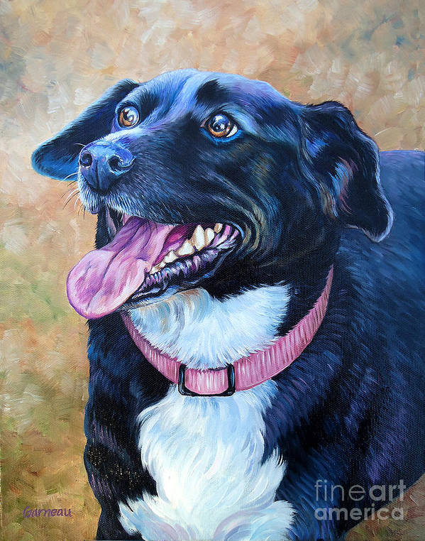 Mixed Breed Art Print featuring the painting Sallie by Catherine Garneau