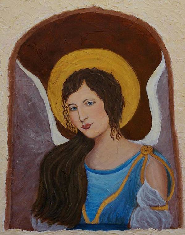 Angel Art Print featuring the painting Samantha An Earthangel by The Art With A Heart By Charlotte Phillips