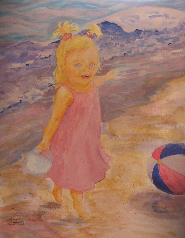 Sea Art Print featuring the painting See by Sharon Casavant