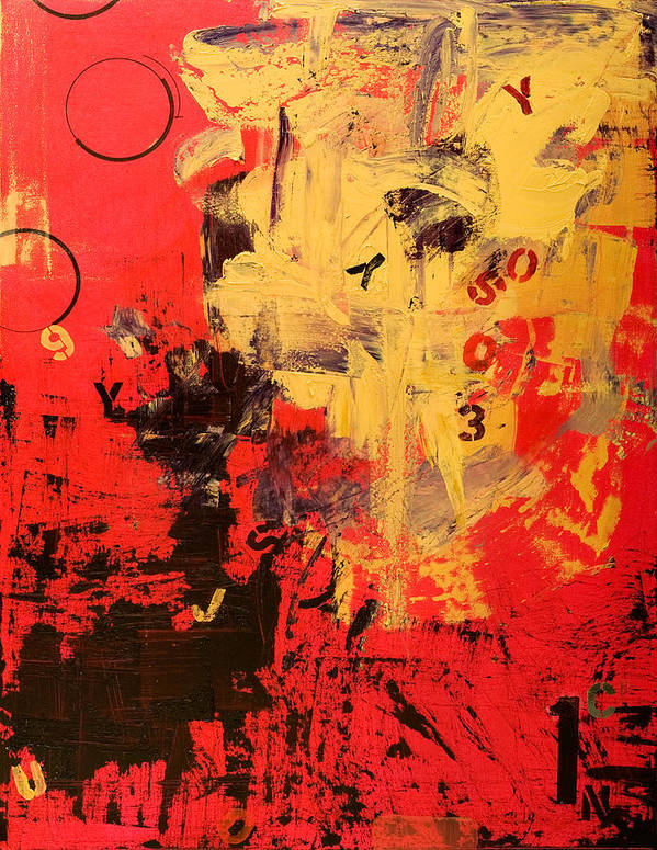 Abstract Art Print featuring the painting Speechless by Laura Warburton