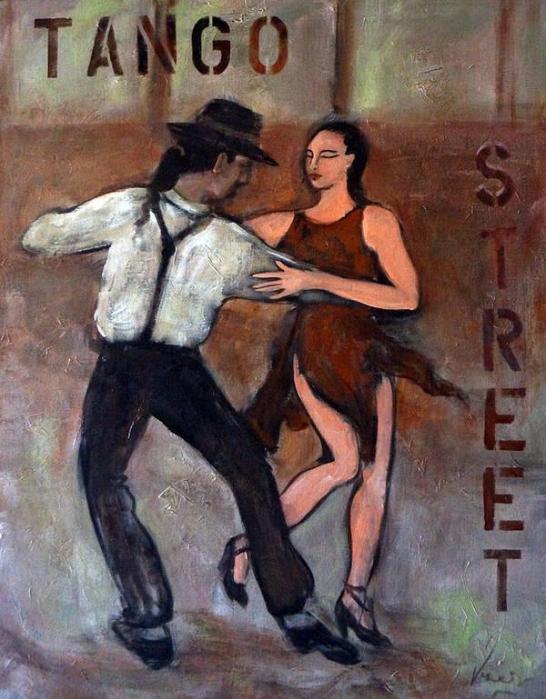 Tango Art Print featuring the painting Tango Street by Valerie Vescovi