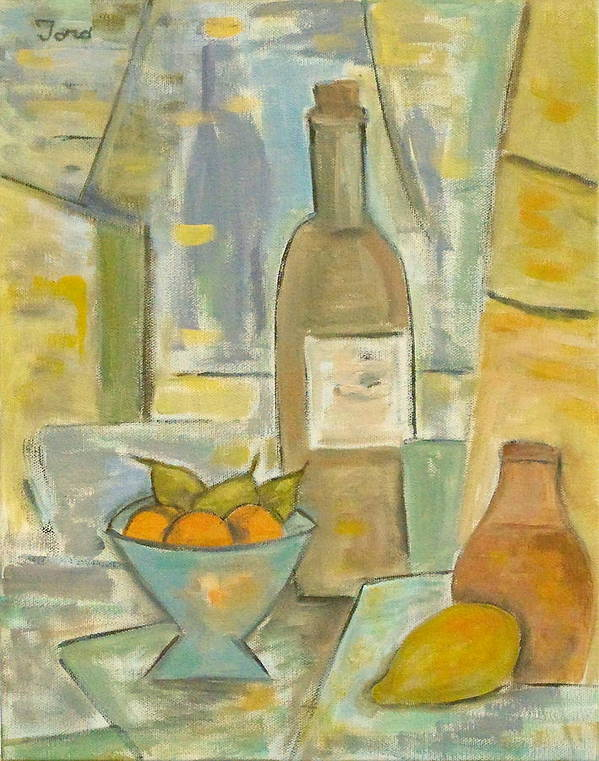 Still Life Art Print featuring the painting Summer Wine by Trish Toro