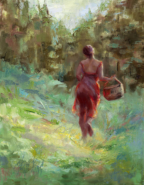 Woman Art Print featuring the painting Taking The Shortcut by Cheryl King