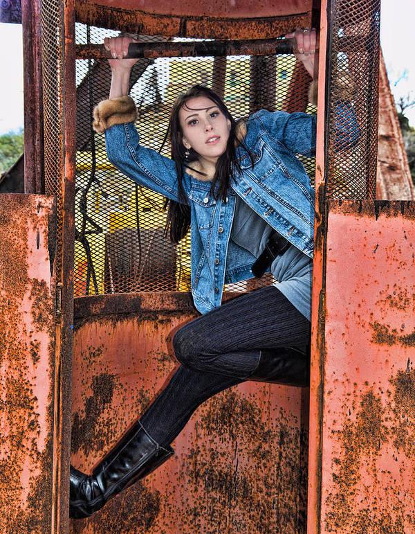 Model Art Print featuring the photograph Tara Jerome 2 by Joel Gilgoff