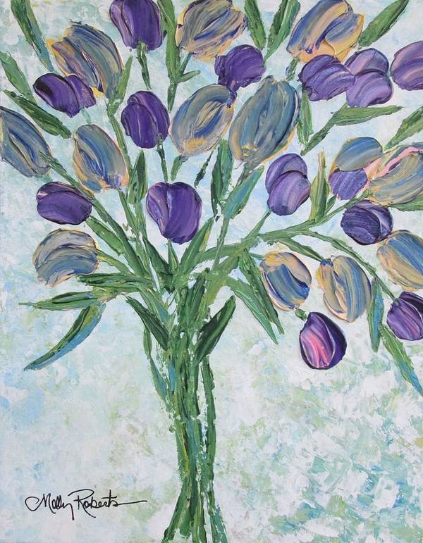 Flowers Art Print featuring the painting The Bouquet I by Molly Roberts
