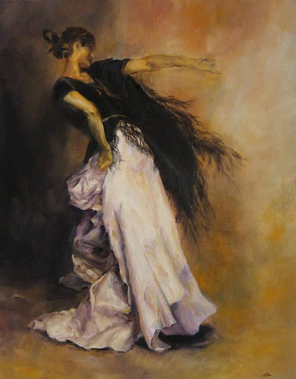 Women Art Print featuring the painting The Dancer by Diane Kraudelt