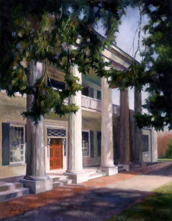 Architecture Art Print featuring the painting The Hermitage by Janet King