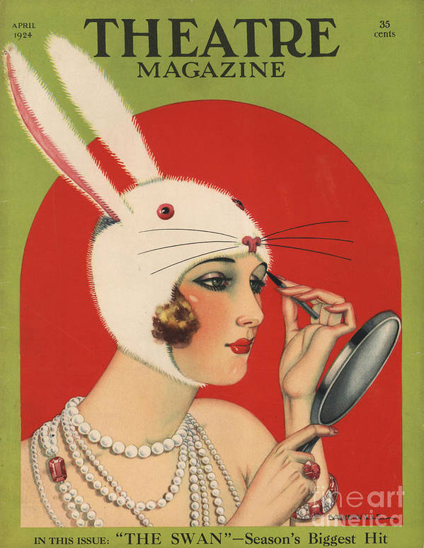 1920�s Art Print featuring the drawing Theatre Magazine 1924 1920s Usa by The Advertising Archives