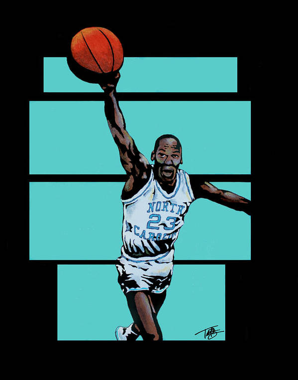 Michael Jordan Art Print featuring the painting Tobacco Road To Glory by Tory Bass