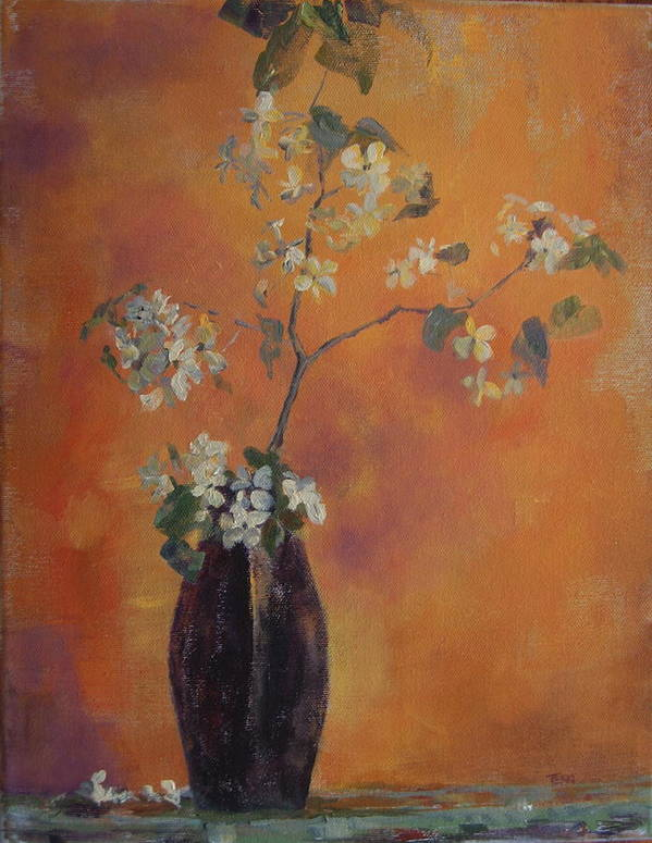 Still Life Art Print featuring the painting Trudi's Vase by Terri Messinger