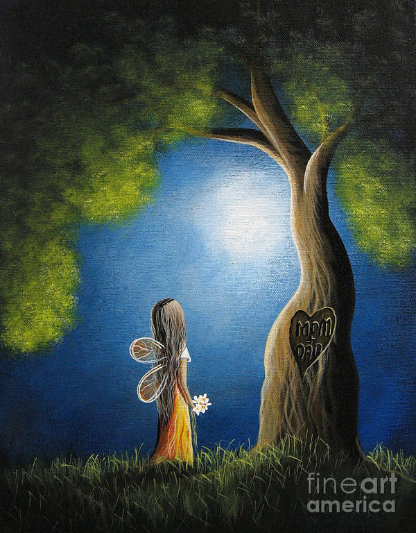 Mom Print featuring the painting True Love Lasts Forever By Shawna Erback by Shawna Erback