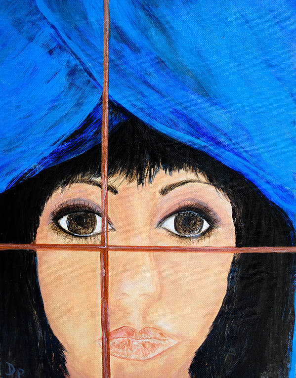 Waiting Art Print featuring the painting Waiting by Dixie Adams